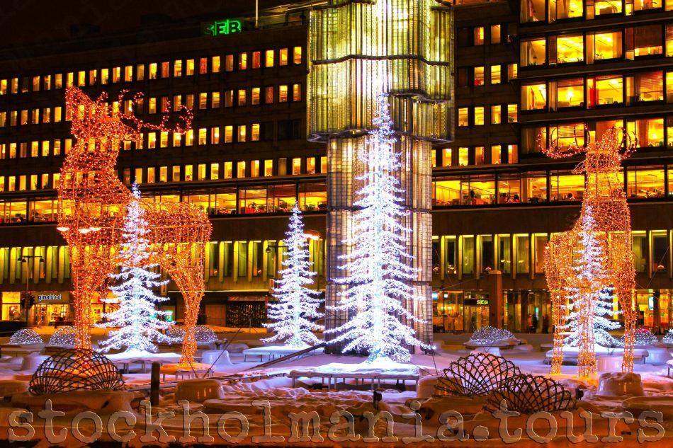 Luminarie di Natale a Stoccolma